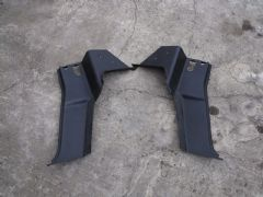 MAZDA MX5 EUNOS (MK1 1989 - 97) BLACK SEAT BELT TOWER TRIM COVERS / PANELS  PAIR